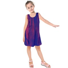 Abstract Color Red Blue Kids  Sleeveless Dress