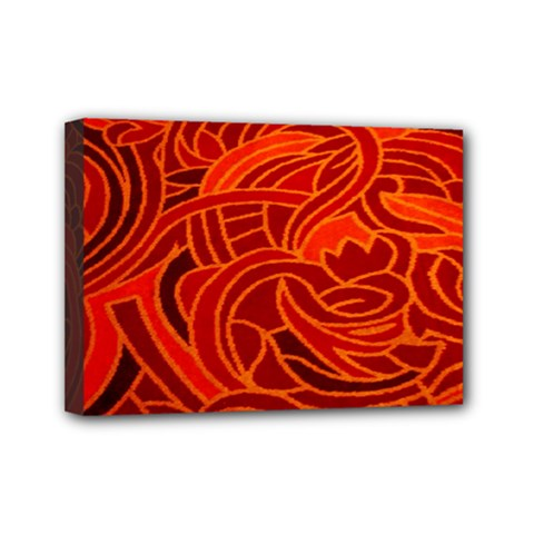 Orange Abstract Background Mini Canvas 7  X 5  by Simbadda