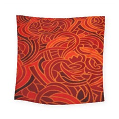 Orange Abstract Background Square Tapestry (small)