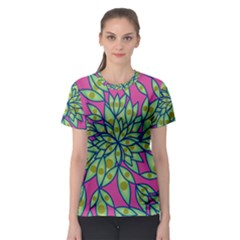 Big Growth Abstract Floral Texture Women s Sport Mesh Tee by Simbadda