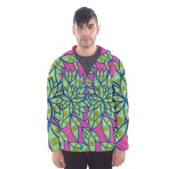 Big Growth Abstract Floral Texture Hooded Wind Breaker (men) by Simbadda