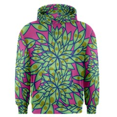 Big Growth Abstract Floral Texture Men s Pullover Hoodie by Simbadda