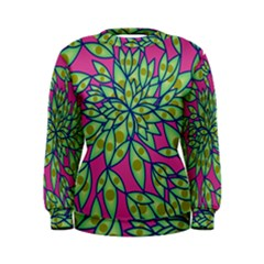 Big Growth Abstract Floral Texture Women s Sweatshirt by Simbadda
