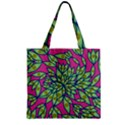 Big Growth Abstract Floral Texture Zipper Grocery Tote Bag View2