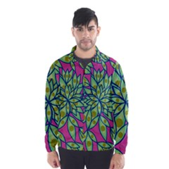 Big Growth Abstract Floral Texture Wind Breaker (men) by Simbadda