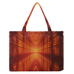 Abstract Wallpaper With Glowing Light Medium Zipper Tote Bag by Simbadda