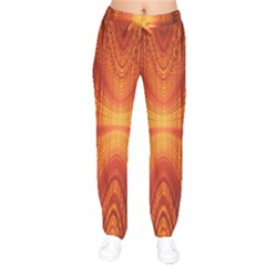 Abstract Wallpaper With Glowing Light Drawstring Pants