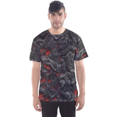 Volcanic Lava Background Effect Men s Sport Mesh Tee