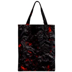 Volcanic Lava Background Effect Zipper Classic Tote Bag by Simbadda