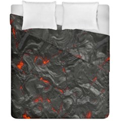 Volcanic Lava Background Effect Duvet Cover Double Side (california King Size) by Simbadda