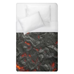 Volcanic Lava Background Effect Duvet Cover (single Size) by Simbadda