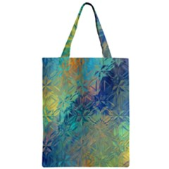 Colorful Patterned Glass Texture Background Zipper Classic Tote Bag by Simbadda