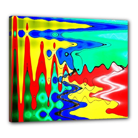 Bright Colours Abstract Canvas 24  X 20