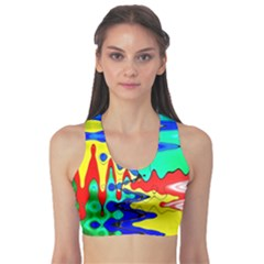 Bright Colours Abstract Sports Bra