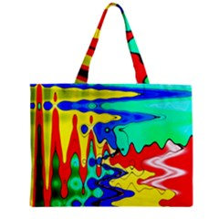 Bright Colours Abstract Zipper Mini Tote Bag by Simbadda