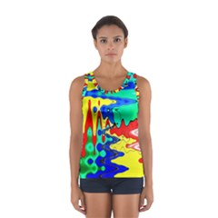 Bright Colours Abstract Women s Sport Tank Top