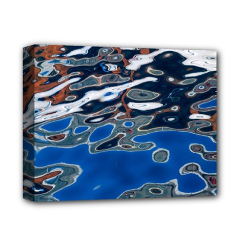 Colorful Reflections In Water Deluxe Canvas 14  X 11  by Simbadda