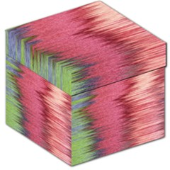 Rectangle Abstract Background In Pink Hues Storage Stool 12   by Simbadda