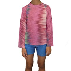 Rectangle Abstract Background In Pink Hues Kids  Long Sleeve Swimwear by Simbadda