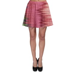 Rectangle Abstract Background In Pink Hues Skater Skirt by Simbadda