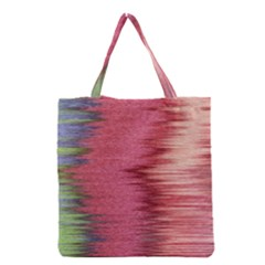 Rectangle Abstract Background In Pink Hues Grocery Tote Bag