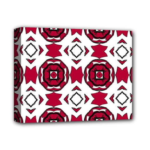 Seamless Abstract Pattern With Red Elements Background Deluxe Canvas 14  X 11
