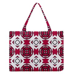 Seamless Abstract Pattern With Red Elements Background Medium Zipper Tote Bag