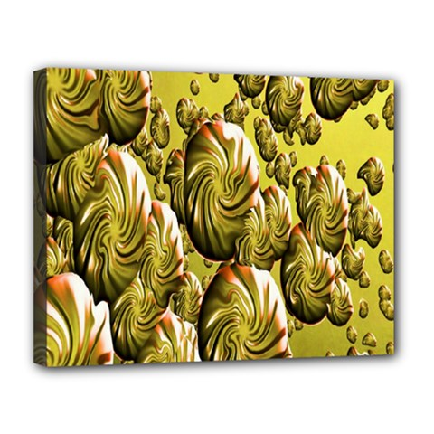 Melting Gold Drops Brighten Version Abstract Pattern Revised Edition Canvas 14  X 11
