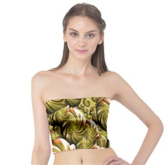 Melting Gold Drops Brighten Version Abstract Pattern Revised Edition Tube Top by Simbadda