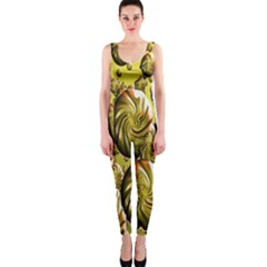 Melting Gold Drops Brighten Version Abstract Pattern Revised Edition Onepiece Catsuit