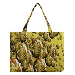 Melting Gold Drops Brighten Version Abstract Pattern Revised Edition Medium Tote Bag by Simbadda