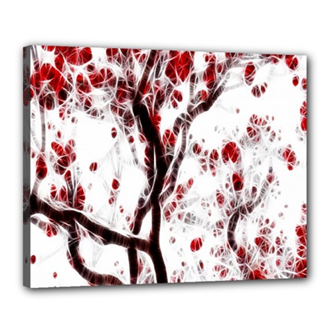 Tree Art Artistic Abstract Background Canvas 20  X 16  by Simbadda