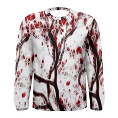 Tree Art Artistic Abstract Background Men s Long Sleeve Tee