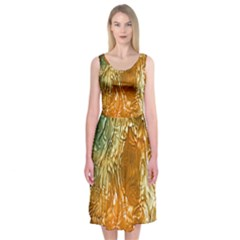 Light Effect Abstract Background Wallpaper Midi Sleeveless Dress