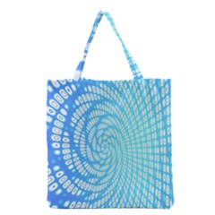 Abstract Pattern Neon Glow Background Grocery Tote Bag by Simbadda