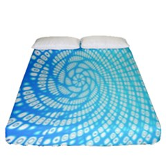 Abstract Pattern Neon Glow Background Fitted Sheet (queen Size) by Simbadda