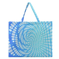 Abstract Pattern Neon Glow Background Zipper Large Tote Bag by Simbadda