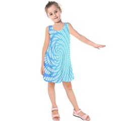 Abstract Pattern Neon Glow Background Kids  Sleeveless Dress by Simbadda
