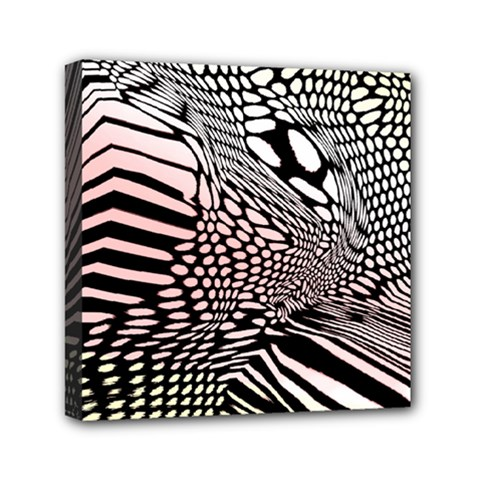 Abstract Fauna Pattern When Zebra And Giraffe Melt Together Mini Canvas 6  X 6