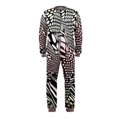 Abstract Fauna Pattern When Zebra And Giraffe Melt Together Onepiece Jumpsuit (kids)