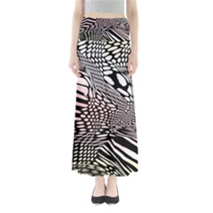 Abstract Fauna Pattern When Zebra And Giraffe Melt Together Maxi Skirts