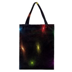 Star Lights Abstract Colourful Star Light Background Classic Tote Bag