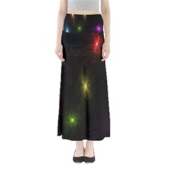 Star Lights Abstract Colourful Star Light Background Maxi Skirts