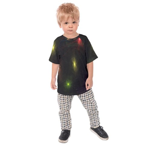Star Lights Abstract Colourful Star Light Background Kids  Raglan Tee by Simbadda