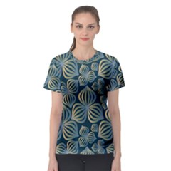 Gradient Flowers Abstract Background Women s Sport Mesh Tee by Simbadda