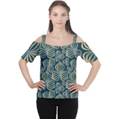 Gradient Flowers Abstract Background Women s Cutout Shoulder Tee