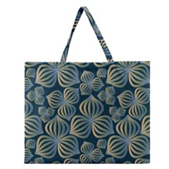 Gradient Flowers Abstract Background Zipper Large Tote Bag