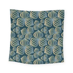 Gradient Flowers Abstract Background Square Tapestry (small)