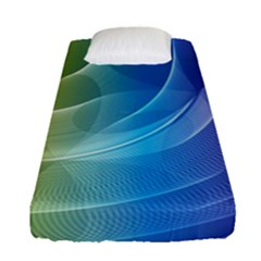 Colorful Guilloche Spiral Pattern Background Fitted Sheet (single Size) by Simbadda