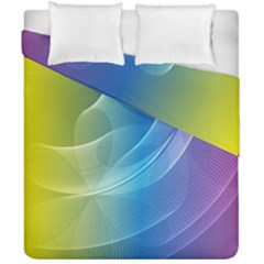 Colorful Guilloche Spiral Pattern Background Duvet Cover Double Side (california King Size) by Simbadda
